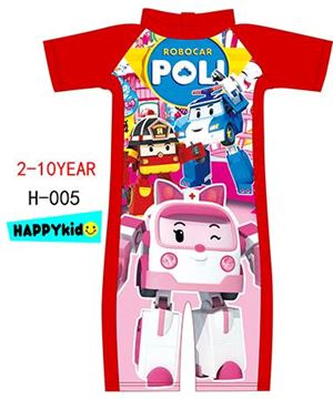 H-005 ROBOCAR POLI SWIMSUIT ( RED )( READY STOCK )