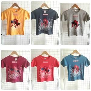 T-Shirt Boy Short Sleeve Spiderman: Size 10-16 (7 - 12 tahun)