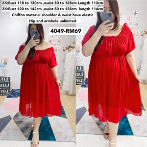 4049`*Ready Stock* Bust 47 to 56inch / 118 - 142 cm
