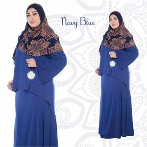 Kurung Aryna - Navy Blue