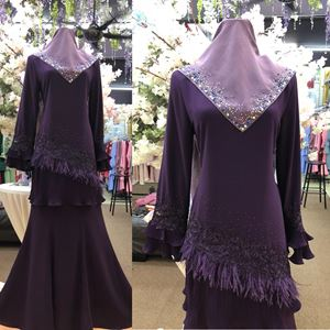 KURUNG LEELA DARK PURPLE