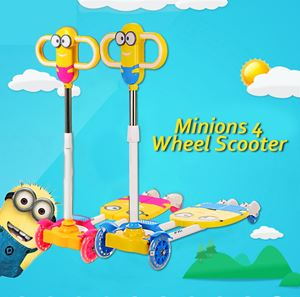 Minions 4 wheel scooter
