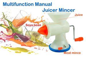 Multi-functional manual juicer mincer