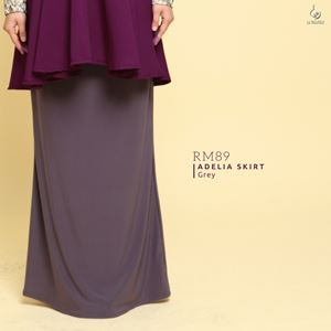 Adelia Skirt Plain : Grey