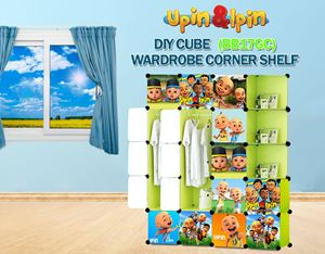 NEW Upin & Ipin GREEN 17C DIY Wardrobe with Corner Shelf (BB17GC)