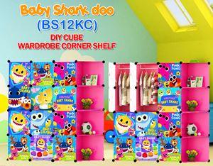 Baby Shark Doo PINK 12C DIY WARDROBE w CORNER RACK (BS12KC)