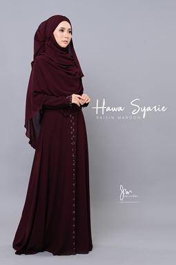 JUBAH HAWA SYARIE (RAISIN MAROON)