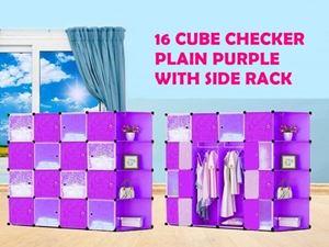 16 CUBE CHEKER PLAIN PURPLE WITH SIDE RACK eta 25 May