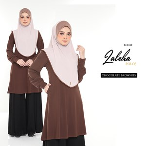 BLOUSE ZALEHA POLOS (CHOCOLATE BROWNIES)