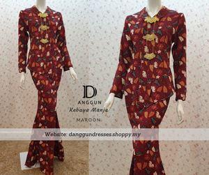Kebaya Batik Manja Maroon