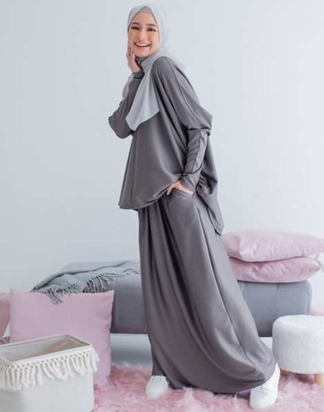 CLARA 2.0 SKIRT IN GREYSILVER