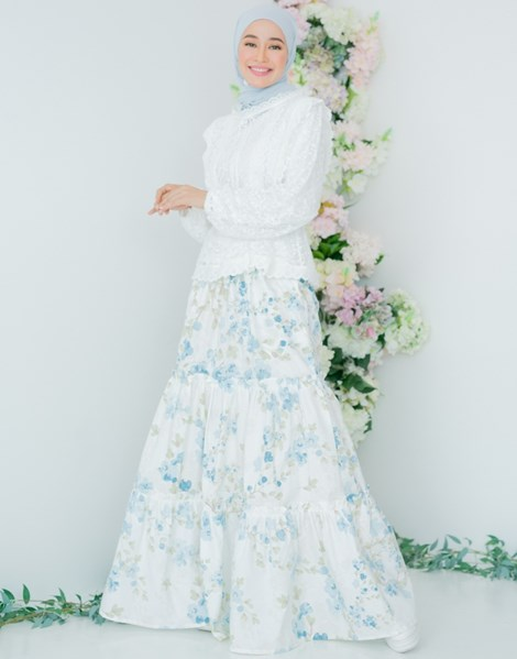 NUR 2.0 BLOSSOM SKIRT IN POWDER BLUE