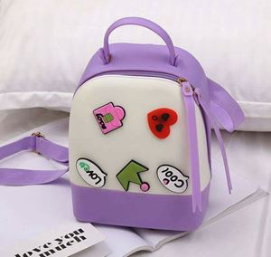 Silicon Jelly Backpack - Purple Cream