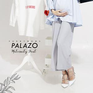 Maternity Palazo Pant - Silver Grey