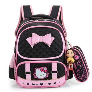 Hello Kitty Bag Set  ( BLACK )