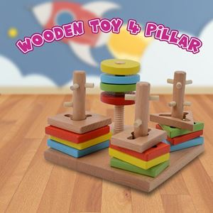 WOODEN TOY 4 PILLAR