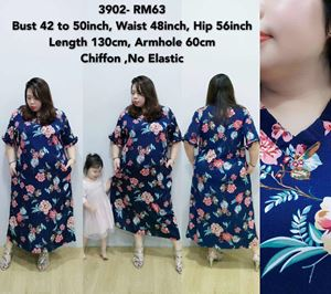 3902 Ready Stock *Bust 42 to 50 inch/ 108-127cm