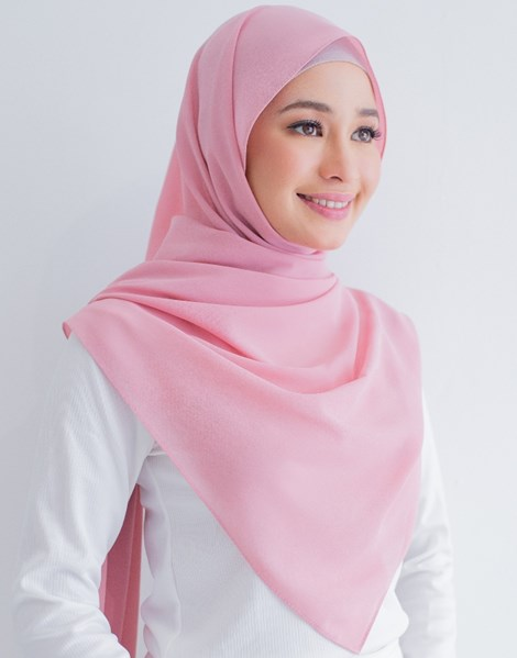 BASIC E SHAWL IN ROSE PINK