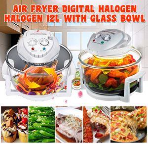 Air Fryer Digital Halogen Halogen 12L with Glass Bowl