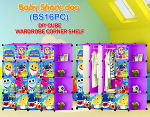 Baby Shark Doo PURPLE 16C DIY WARDROBE w CORNER RACK (BS16CP)