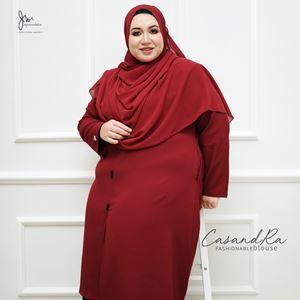 02 CASANDRA FASHIONABLE BLOUSE (Sangria Maroon)