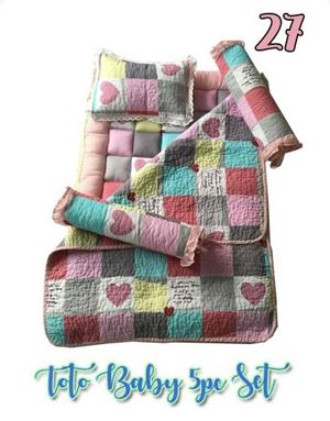 27 BABY TOTO 5PC SET  PATCHWORK