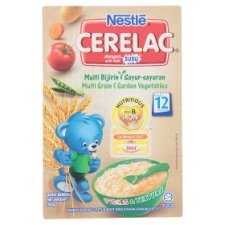 Nestlé Cerelac Multi Grain & Garden Vegetables Infant Cereal with Milk From 12 Months 250g