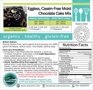 Eggless, Casein-Free, Moist Cake Mix- Chocolate