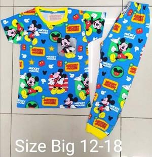Pyjamas MICKEY INVISIBLE BLUE  :  BIG Size 12 -14