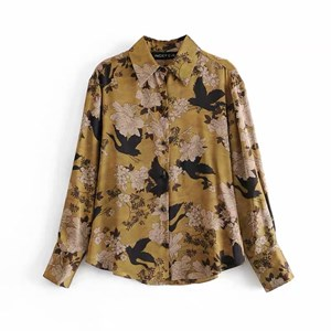 CLASSIC BROWN AND BLACK FLORAL PRINTS TOP
