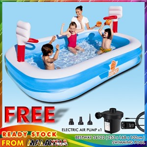 Bestway 54122 Basketball Play Swimming Pool With Air Pump