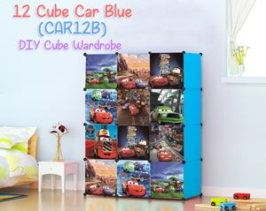 CARS BLUE 12C DIY WARDROBE (CAR12B)