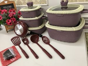DESSINI 22PCS GRANITE COOKWARE SET (DUSTY PURPLE)