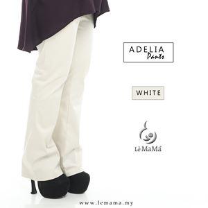 Adelia Pants : White