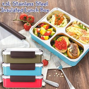 1.3L Stainless Steel 5 Compartment Insulated Lunch Box