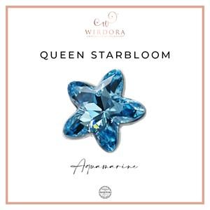 Brooch Star Queen Aquamarine