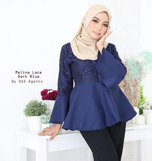 Blouse Melina Lace Dark Blue