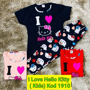 Pyjamas I LOVE Hello Kitty ( Kids) 1-8y - Kod 1910
