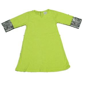 Dress Jubah Baby - Lime S0043