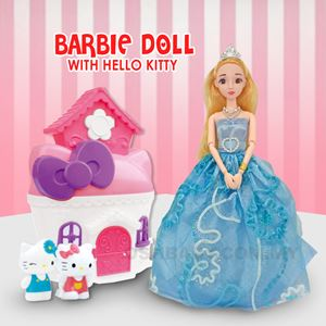 BARBIE DOLL WITH HELLO KITTY