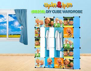 NEW Upin & Ipin BLUE 20C DIY Cube Wardrobe (BB20B)