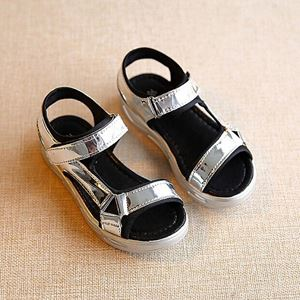 SILVER GIRL SANDALS WITH STRAP