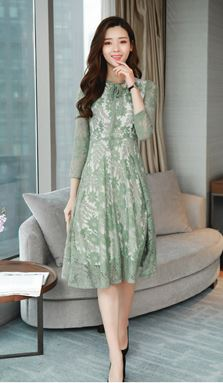Long-sleeved Lace Base Dress