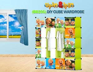 NEW Upin & Ipin GREEN 20C DIY Cube Wardrobe (BB20G)