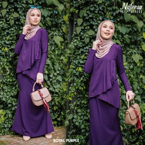 IRIS KURUNG PINK ROYAL PURPLE