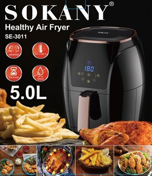 SOKANY AIR FRYER 5.0L LCD SCREEN
