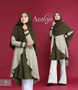 *BORONG* AZALEYA LUXURIOUSBLOUSE (Olive Green)