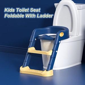 Kids Toilet Training Ladder Foldable Baby Potty Training Toilet Seat Step Ladder Trainer Tangga Tandas