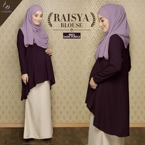 Raisya Blouse : Dark Purple