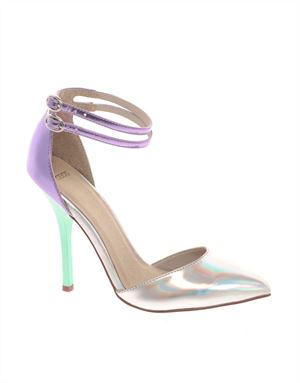 PRIOR Metallic Pointed High Heels